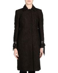 Blumarine - Brown Coat - Lyst