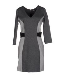 Dirk Bikkembergs - Gray Short Dress - Lyst