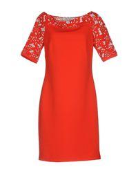 22 Maggio By Maria Grazia Severi - Red Short Dress - Lyst