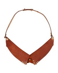 7 For All Mankind - Brown Necklace - Lyst