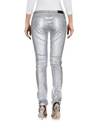 Faith Connexion - Metallic Denim Trousers - Lyst