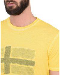 Napapijri - Yellow Short Sleeve T-shirt for Men - Lyst