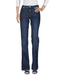 Moschino - Blue Denim Trousers - Lyst