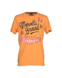 Marville   Orange T-shirt for Men   Lyst