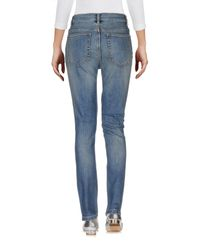 Marc By Marc Jacobs - Blue Denim Trousers - Lyst