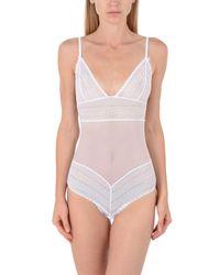 Heidi Klum - White Bodysuit - Lyst