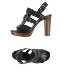 Elvio Zanon - Black Sandals - Lyst