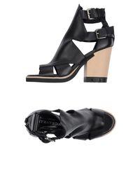Strategia   Black Sandals   Lyst