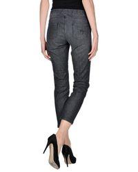 Blue Les Copains - Black Denim Pants - Lyst