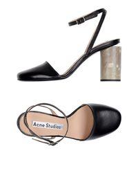 Acne - Black Sandals - Lyst