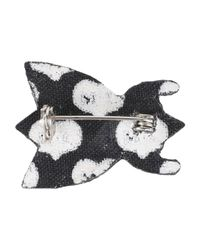 Macon & Lesquoy - Black Brooch - Lyst