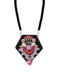Pinko - Black Necklace - Lyst
