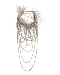 Brunello Cucinelli - Gray Necklace - Lyst
