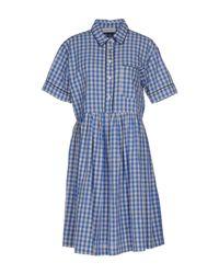 Aglini - Blue Knee-length Dress - Lyst
