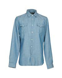 Hydrogen - Blue Denim Shirts for Men - Lyst
