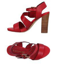 CafeNoir - Red Sandals - Lyst
