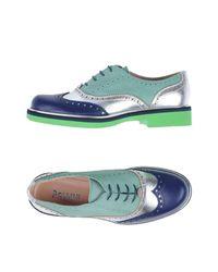 Pollini - Blue Lace-up Shoes - Lyst