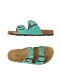 Shoe The Bear - Green Sandals - Lyst