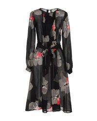 P.A.R.O.S.H. - Black Knee-length Dress - Lyst