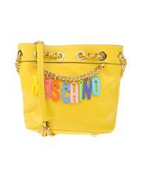 Moschino - Yellow Cross-body Bag - Lyst