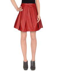 CO TE - Red Knee Length Skirt - Lyst
