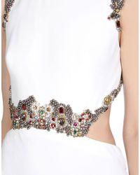 Alexander McQueen White Long Dress