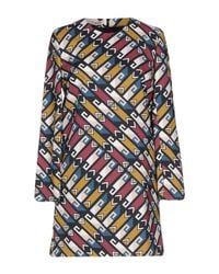 Frankie Morello - Blue Short Dress - Lyst