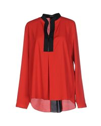 Hanita - Red Blouse - Lyst