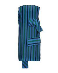 MSGM | Blue Short Dress | Lyst