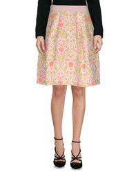 Pinko - White Knee Length Skirt - Lyst