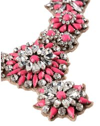 Valentino - Pink Necklace - Lyst