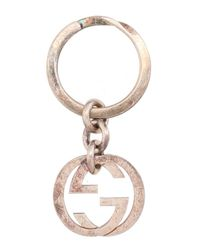 Gucci - Metallic Key Ring - Lyst