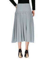Chloé - Green 3/4 Length Skirt - Lyst