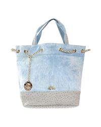 Secret Pon-pon - Blue Handbag - Lyst