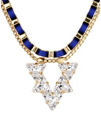John & Pearl - Blue Necklace - Lyst