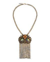 Class Roberto Cavalli   Metallic Necklace   Lyst