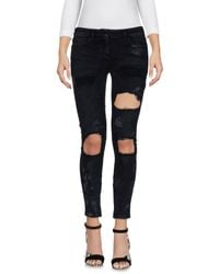Faith Connexion | Black Denim Trousers | Lyst