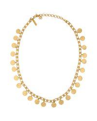 Oscar de la Renta - Metallic Necklace - Lyst