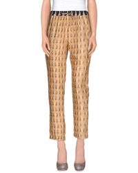 INTROPIA - Yellow Casual Pants - Lyst