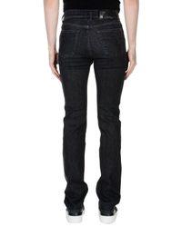 Versace - Black Denim Trousers for Men - Lyst