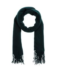 Pieces - Green Scarf - Lyst
