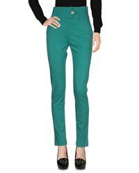 Class Roberto Cavalli Green Casual Trouser