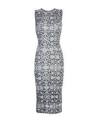 Mrz - Blue 3/4 Length Dress - Lyst