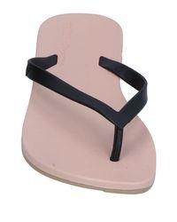 Melissa - Black Toe Strap Sandals - Lyst