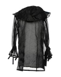 Sacai - Black Overcoat for Men - Lyst