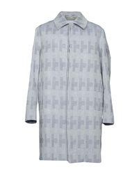 Matthew Miller - Gray Overcoat for Men - Lyst