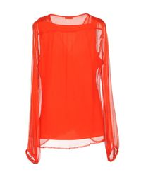 P.A.R.O.S.H. - Red Blouse - Lyst