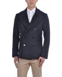 Alexander McQueen Blue Coat for men