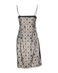 Pianurastudio - Black Knee-length Dress - Lyst