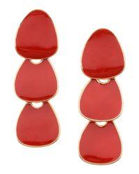 Kenneth Jay Lane - Red Earrings - Lyst